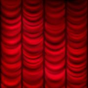 Red curtain background template. EPS 10 Stock Illustration