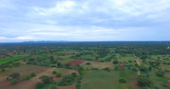 4k aerial - towards Shwe San Daw Pagoda and mountains Stock Footage