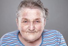 Portrait of an elderly woman Stock Photos