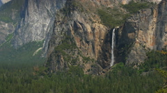 Bridalveil Fall, Yosemite National Park, California, Zoom Stock Footage