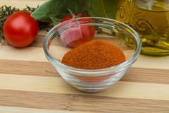 Paprika powder - stock photo