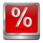 Discount button with percent symbol - stock photo