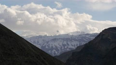 TIMELAPSE Snow capped mountain with clouds,Tabo,Spiti,India Stock Footage