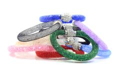 Bracelet with crystals Stock Photos