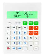 Calculator with BUY SELL - stock illustration