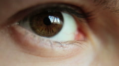Closeup Shot Of Boy Eye 02 - stock footage