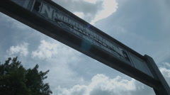 Stock Video Footage of New Haven to Northampton - Farmington Canal Path Sign, running & cycling