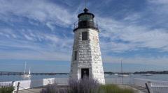 Newport, RI Lighthouse Stock Footage