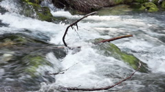 Wild river in Golling, austria, slow motion Stock Footage