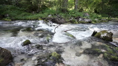 Wild river in Golling, austria, slow motion - stock footage