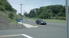 Quinnipiac University Polling Institute sign, Wide Shot Stock Footage