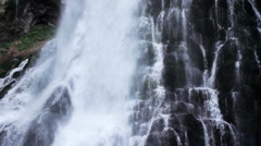 Large waterfall in Golling, austria, slow motion Stock Footage
