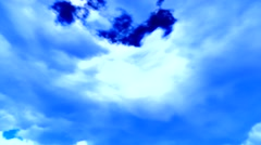 Fine weather cloudscape - stock footage