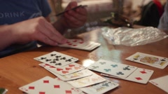 Playing Cards Handheld Close Up Stock Footage