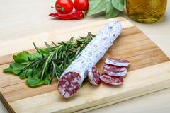 Spanish sausage - fuet Stock Photos