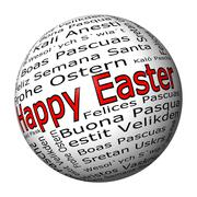 Happy Easter wordcloud - stock photo