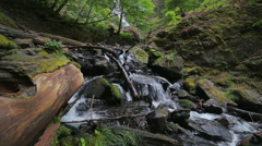 Water Flowing Through Rocks in the Pacific Northwest 3 Stock Footage