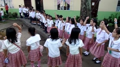 Elementary School children singing Hymn - stock footage