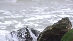 Tidal bore closeup. Slow motion. Stock Footage