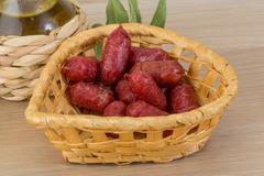 Mini salami - stock photo