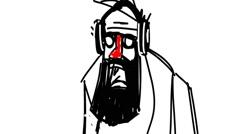 beard hipster listen music - stock footage