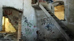 ghetto  in a ruin house - stock footage