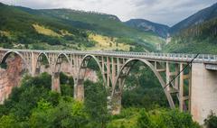 Durdevica arched Tara Bridge - Montenegro. - stock photo