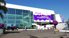 ULTRA HD 4K real time shot,Palais des Festivals of the Cannes Stock Footage