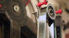 Old cinema reel - stock footage