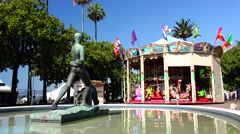 "ULTRA HD 4K real time shot,""La Croisette"" Boulevard in Cannes Stock Footage"