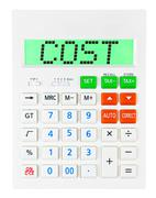 Calculator with COST - stock photo