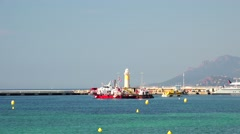 ULTRA HD 4K real time shot, Panoramic view of Cannes Stock Footage