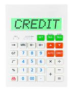 Calculator with CREDIT - stock photo
