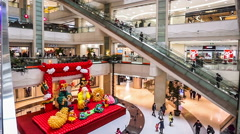 The festival decoration of the Joy City shopping mall in Beijing Stock Footage