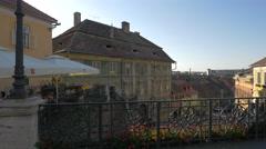 View from Liars Bridge, Sibiu Stock Footage