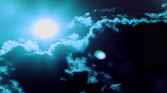 Beautiful cloudy gloomy sky with  moon. 4K 4096x2304 . Without birds Stock Footage