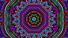 Flowered Kaleidoscope Mosaic Multicolored Abstract Background Stock Footage
