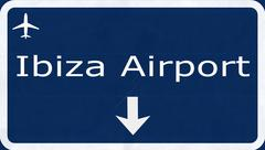 Stock Illustration of Ibiza Spain Airport Highway Sign