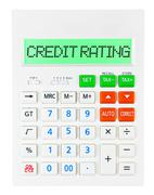 Calculator with CREDIT RATING - stock photo