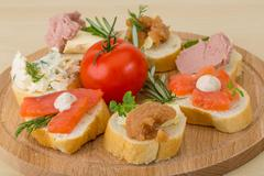 Assorted tapas - stock photo
