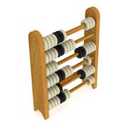 3d toy abacus - stock illustration