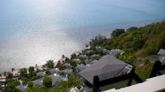 Seaview from Luxury Resort Balcony Stock Footage