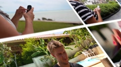 Using Smartphone Concept - Montage - stock footage