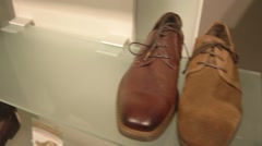 Brown shoes men Stock Footage