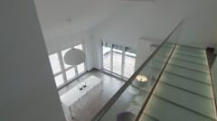 stylish corridor in modern house - stock footage
