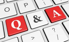 Question And Answer Keyboard Concept - stock illustration