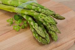 Raw asparagus - stock photo
