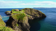 Carrick-a-Rede Rope Bridge Stock Footage