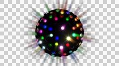 Alpha Disco Ball Vj Loop 01 Stock Footage