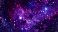 Flying Through Stars And Nebulae - 4K UHD - Purple Stock Footage